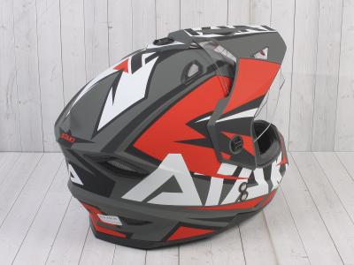 Шлем (мотард) Ataki JK802 Rampage красный/серый матовый    S фото 9