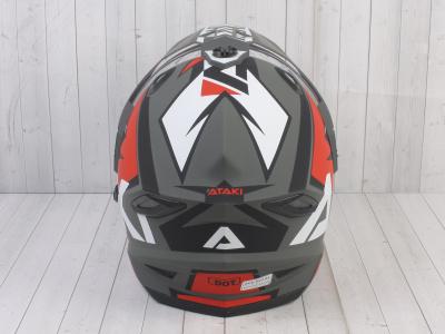 Шлем (мотард) Ataki JK802 Rampage красный/серый матовый    S фото 11