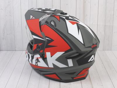 Шлем (мотард) Ataki JK802 Rampage красный/серый матовый    S фото 13