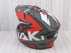 Шлем (мотард) Ataki JK802 Rampage красный/серый матовый  XL превью 13