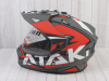 Шлем (мотард) Ataki JK802 Rampage красный/серый матовый  XL превью 15