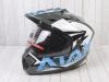 Шлем (мотард) Ataki JK802 Rampage серый/синий глянцевый    S превью 1