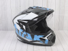 Шлем (мотард) Ataki JK802 Rampage серый/синий глянцевый    S превью 5