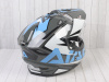 Шлем (мотард) Ataki JK802 Rampage серый/синий глянцевый    S превью 9