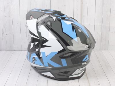 Шлем (мотард) Ataki JK802 Rampage серый/синий глянцевый    S фото 13