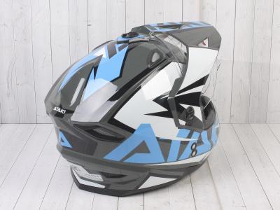 Шлем (мотард) Ataki JK802 Rampage серый/синий глянцевый   M фото 9