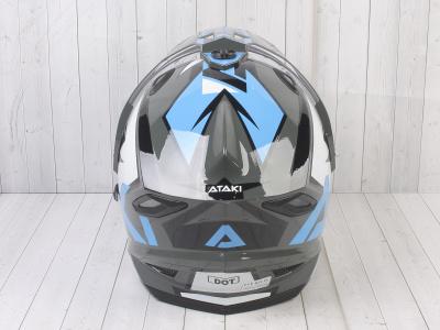 Шлем (мотард) Ataki JK802 Rampage серый/синий глянцевый   M фото 11