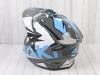 Шлем (мотард) Ataki JK802 Rampage серый/синий глянцевый   M превью 13