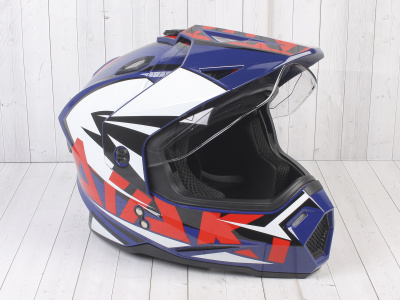 Шлем (мотард) Ataki JK802 Rampage синий/красный глянцевый  XL фото 5