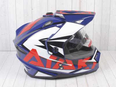 Шлем (мотард) Ataki JK802 Rampage синий/красный глянцевый  XL фото 7