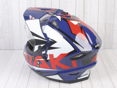 Шлем (мотард) Ataki JK802 Rampage синий/красный глянцевый  XL фото 13