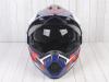 Шлем (мотард) Ataki JK802 Rampage синий/красный глянцевый   M превью 3