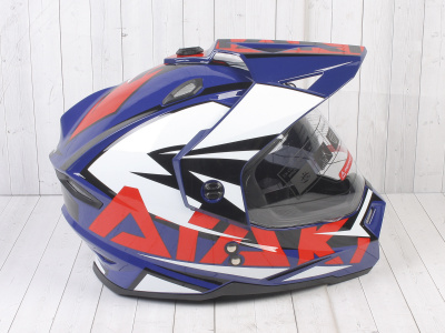 Шлем (мотард) Ataki JK802 Rampage синий/красный глянцевый   M фото 7