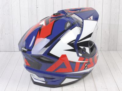 Шлем (мотард) Ataki JK802 Rampage синий/красный глянцевый   M фото 9
