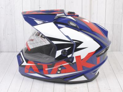 Шлем (мотард) Ataki JK802 Rampage синий/красный глянцевый   M фото 15
