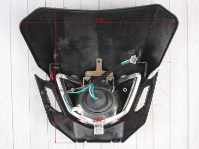 Фара + Обтекатель B-018 кросс черная фото 5