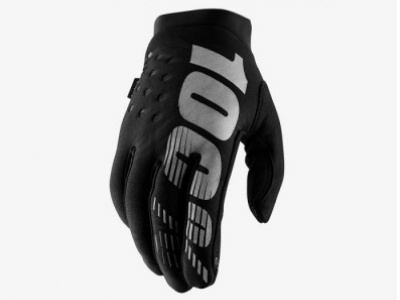 Мотоперчатки 100% Brisker Glove Black/Grey S (10016-057-10) фото 1