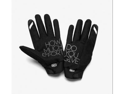 Мотоперчатки 100% Brisker Glove Black/Grey S (10016-057-10) фото 3