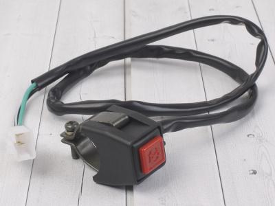 Кнопка выкл. двигателя с креплением на руль квадратная SM-PARTS фото 1