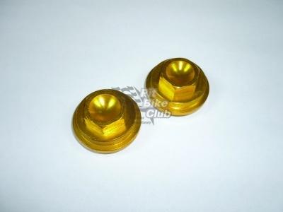 Крышки клапанов CNC YX110/125 золотые фото 1