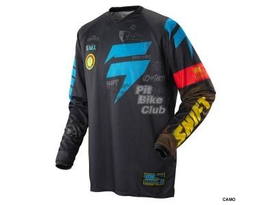 Джерси Shift Racing Brigade Camo Черно-сине-желтый 48(M) фото 1