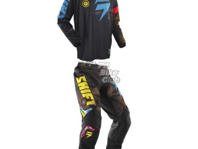 Джерси Shift Racing Brigade Camo Черно-сине-желтый 48(M) фото 3