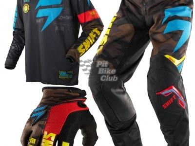 Джерси Shift Racing Brigade Camo Черно-сине-желтый 48(M) фото 5