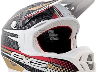 Шлем кроссовый  EVS T7 Martini , черно-бежево-белый L фото 1