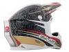 Шлем кроссовый  EVS T7 Martini , черно-бежево-белый L превью 3