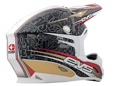 Шлем кроссовый  EVS T7 Martini , черно-бежево-белый L фото 3