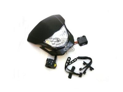 Набор головного света на питбайк Plug&Play черный фото 1