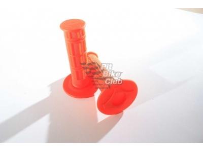 Ручки руля (грипсы) оранжевые фото 1
