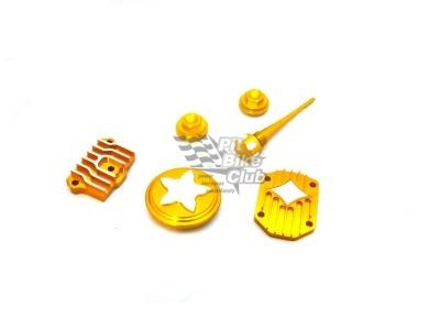 Комплект (крышки) CNC элементов для двигателя 110/125 золотые фото 1