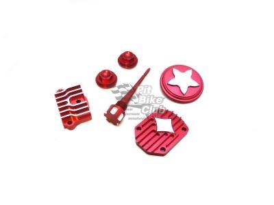 Комплект (крышки) CNC элементов для двигателя 110/125 красные фото 1