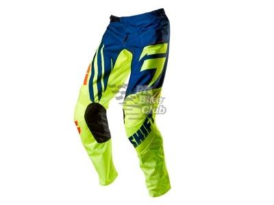 Мотоштаны Shift Racing Assault Race Pants (Ylw-bl) Сине-желтый 28(XS) фото 1