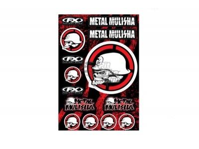 """Наклейки лист (30х45 см) """"Metal Mulisha"""" красный/черный фото 1"""