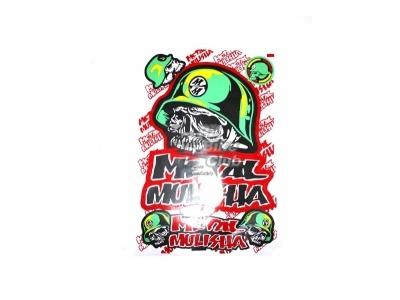 """Наклейки лист (30х45 см) """"Metal Mulisha"""" зеленый/черный фото 1"""