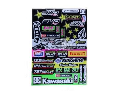 Наклейки Kawasaki BUD салатовые фото 1