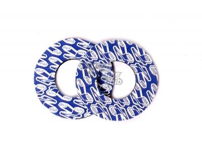 Ограничители (донаты) ручек руля RENTHAL GRIP DONUTZ синие фото 1