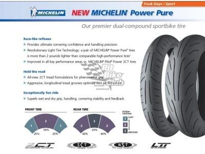 Покрышка Michelin POWER PURE  130/70-12 56P фото 3