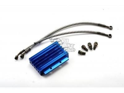 Радиатор алюминиевый в сборе синий фото 1