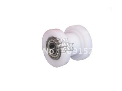 Ролик-натяжитель цепи с пазом белый фото 1