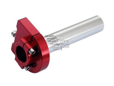 Ручка газа CNC красная короткоходная фото 1