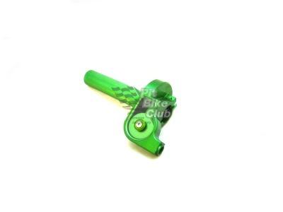 Ручка газа CNC зеленая фото 1
