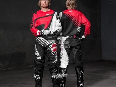Мотоштаны Shift Racing Faction Satellite Pants 2014 Красно-черно-белые 30(S) фото 5