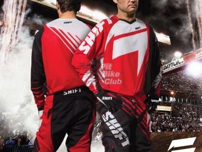 Мотоштаны Shift Racing Faction Satellite Pants 2014 Красно-черно-белые 30(S) фото 7