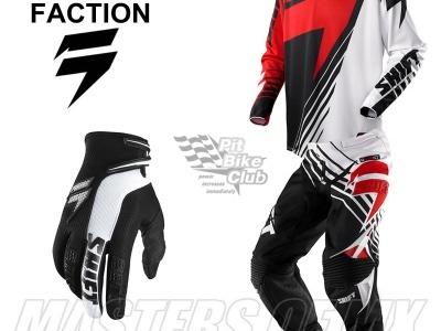 Мотоштаны Shift Racing Faction Satellite Pants 2014 Красно-черно-белые 30(S) фото 9
