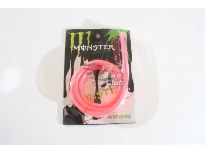 Шланг топливный MONSTER 1m розовый фото 1