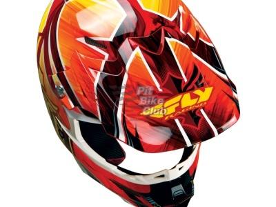 Шлем Кроссовый Fly Racing F2 Acetylene красный/желтый глянцевый M 2015 фото 3