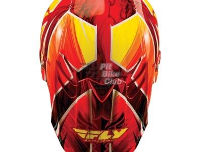 Шлем Кроссовый Fly Racing F2 Acetylene красный/желтый глянцевый M 2015 фото 5